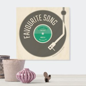 Favourite Song Wooden Plaque Gift for Music lovers
