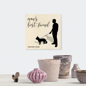 Personalised wooden plaque for pet lovers.