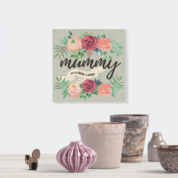Personalised Wooden Plaque Gift for Mum