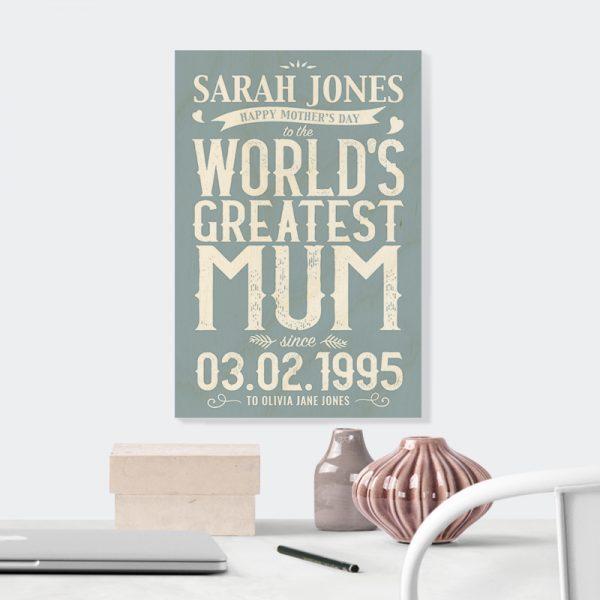 World's Greatest Mum in Blue