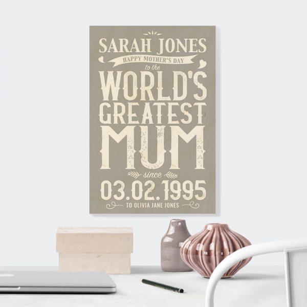 World's Greatest Mum in Grey