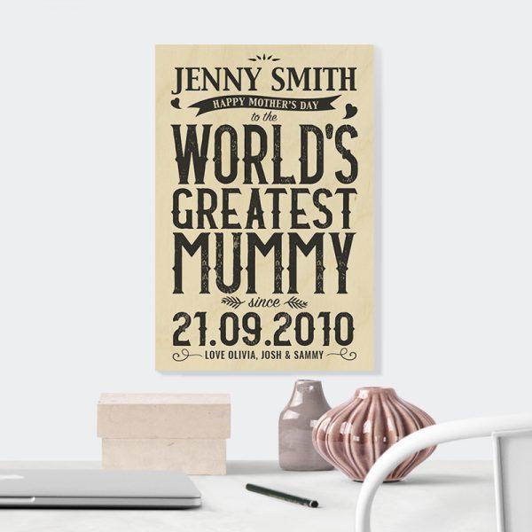 World's Greatest Mum in Black