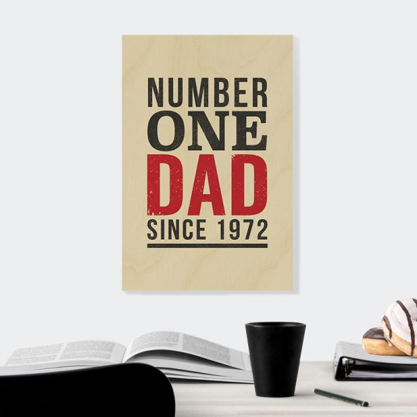 Number One Dad in Natural